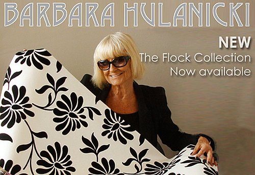 Nice and New: Barbara Hulanicki Flock For Graham & Brown