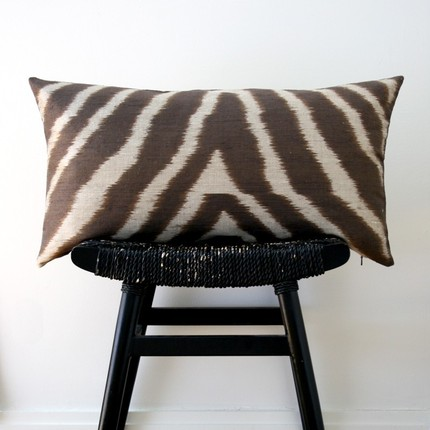 Be Still Shop's Safari Pure Silk Cushion Cover ($59) is wildly chic.