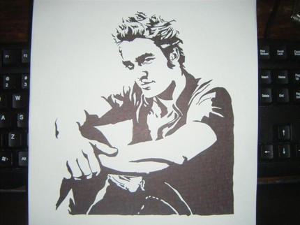 Get an original piece of Edward with this Robert Pattinson Original Sketch ($18), which was sketched with permanent marker.