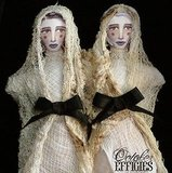 Prop these creepy Conjoined Twin Dolls ($38.50) on your mantel to give your family a case of the shivers.