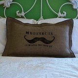 Does your dad sport a 'stache? Let him advertise his love for his facial hair with this Moustache Pillow ($25). The pillow is handprinted on recycled coffee bags, so it's rustic, chic, and moustache-licious.