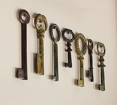 Pick up some Vintage Keys ($19) for your wall.