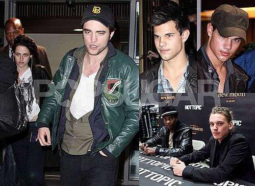 Photos of Robert Pattinson and Kristen Stewart and Taylor Lautner in Paris, Jamie Campbell Bower New Moon Cast Signing Pictures