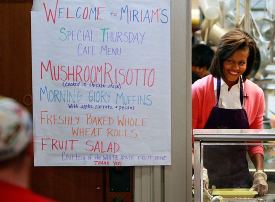 Food Becomes Michelle's Top Agenda Item