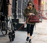 Sienna Miller Walking Her Dog in SoHo