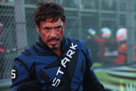 I love Robert Downey Jr.'s hair for Iron Man 2, but the facial hair I'm not so into.