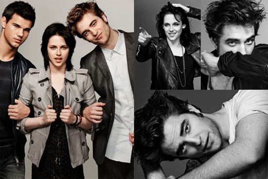 Photos of Taylor Lautner, Robert Pattinson, and Kristen Stewart's EW Outtakes 2009-11-13 08:41:28