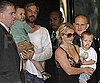 Slide Photo of Britney Spears with Jason Trawick and Jayden James and Sean Preston in Australia
