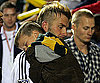 Slide Photo of David Beckham and Cruz After LA Galaxy Wins Game