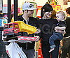Slide Photo of Ashlee Simpson and Pete Wentz With Bronx at CVS in LA