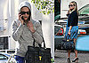 Photos of Reese Witherspoon at the Peninsula Hotel in Beverly Hills in a Blue Dress