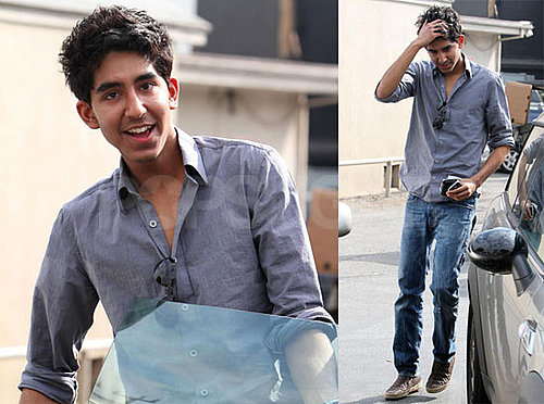 Photos of Dev Patel Leaving a Lunch in LA