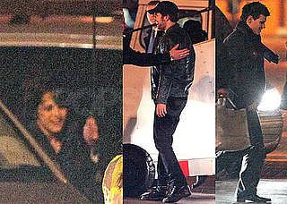 Photos of Robert Pattinson, Kristen Stewart and Taylor Lautner Boarding a Plane to Madrid