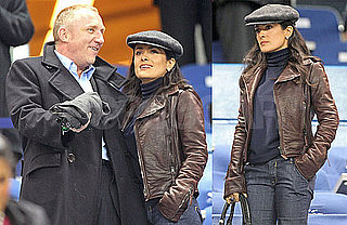 Photos of Salma Hayek And Francois-Henri Pinault Watching Soccer in Paris