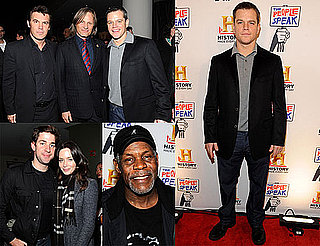 Photos of Matt Damon, Tim Robbins, Emily Blunt, John Krasinski, Viggo Mortensen, Josh Brolin at a History Channel Event