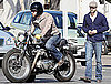 Photos of Ryan Reynolds Riding Around LA on His Motorcycle