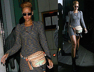 Photos of Rihanna Wearing a Louis Vuitton Fanny Pack in London