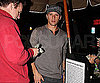 Slide Photo of Ryan Phillippe Waiting For Car at Valet in LA