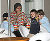 Slide Photo of David Beckham With Romeo, Cruz, and Brooklyn at Ice Cream in LA