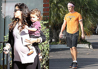 Photos of Matthew McConaughey, Levi McConaughey, And Pregnant Camila Alves in CA