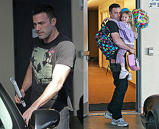 Photos of Ben Affleck and Violet Leaving School in LA