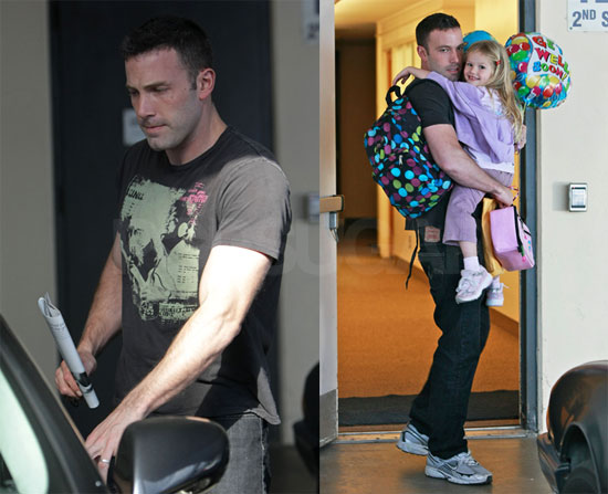 Photos of Ben Affleck and Violet Leaving School