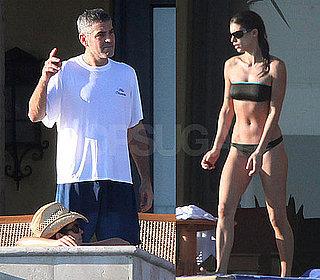 George Clooney Photos and Bikini Photos of Elisabetta Canalis in Mexico with Cindy Crawford and Rande for Thanksgiving