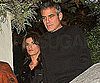 Slide Photo of George Clooney and Elisabetta Canalis Out to Dinner in Rome