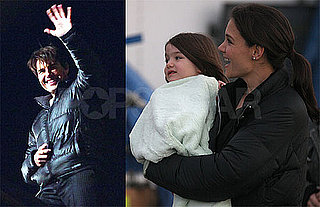 Photos of Tom Cruise and Cameron Diaz on Set of Knight & Day While Katie Holmes and Suri Are on the Set of The Romantics