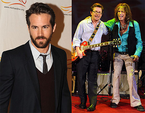 Photos of Ryan Reynolds and Michael J Fox in NYC
