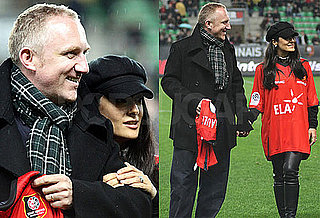 Photos of Salma Hayek, Francois-Henri Pinault, And Valentina Pinault Together at a Soccer Event