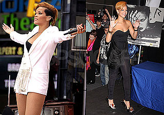 Photos of Rihanna Promoting Rated R at Best Buy and on Good Morning America