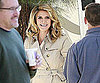 Slide Photo of Heidi Klum Filming Commercial in LA
