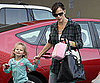 Slide Photo of Jennifer Garner and Violet Affleck Leaving School in LA