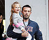 Slide Photo of Ben Affleck Picking Up Happy Violet From School