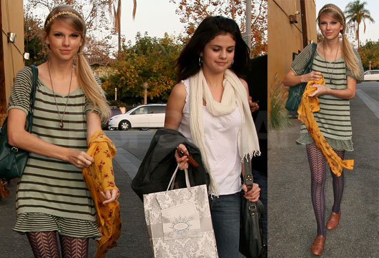 Photos of Taylor and Selena