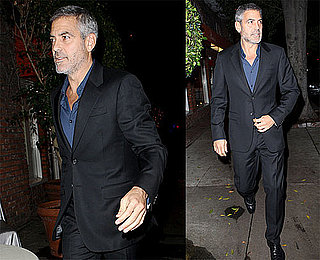 Photos of George Clooney Having Dinner in LA