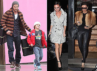 Photos of Victoria Beckham Shopping in Paris, David Beckham Shopping in LA With Romeo