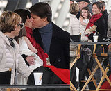 Photos of Tom Cruise and Katie Holmes Kissing on the Set of Knight and Day 2009-12-07 09:56:50