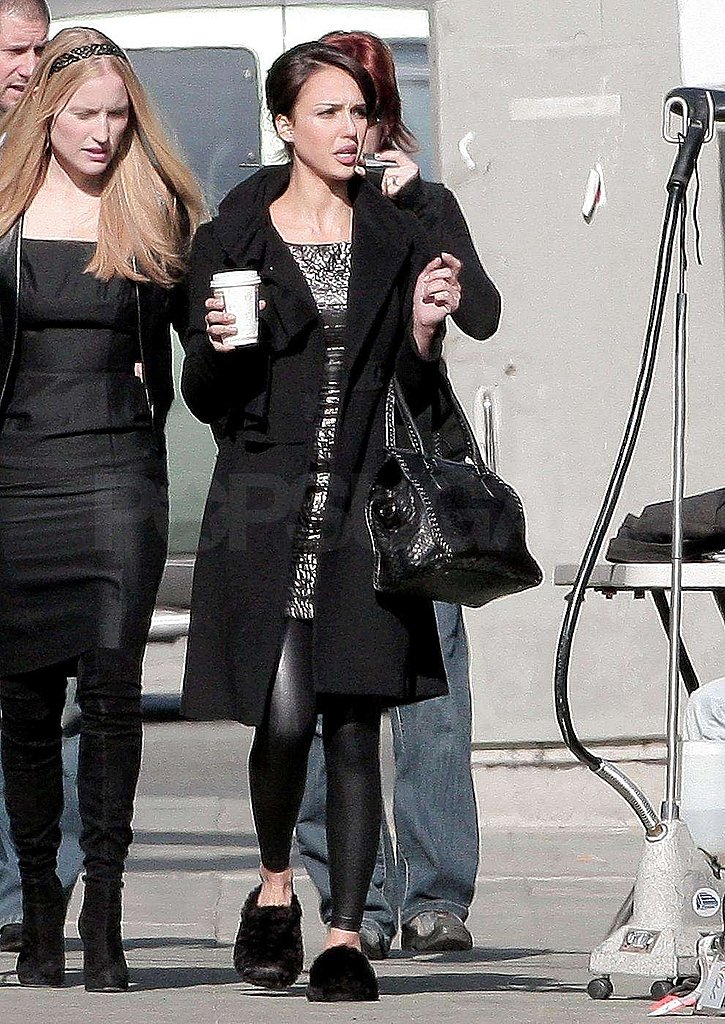 Photos of Jessica Alba at a Revlon Shoot in LA