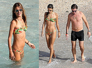 Alessandra Ambrosio Bikini Photos at a Shoot in St. Bart's