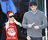 Slide Photo of Paris Hilton and Doug Reinhardt At Tree Lot in LA