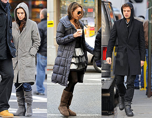 Photos of Natalie Portman, Mila Kunis, Sebastian Stan Filming Black Swan in NYC