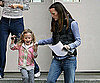 Slide Photo of Jennifer Garner and Violet Affleck Leaving School 2009-12-15 06:30:10