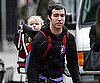 Slide Photo of Pete Wentz Carrying Bronx on His Back in NYC