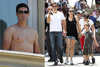 Shirtless Photos of Matthew Fox on Vacation With His Family in Rome