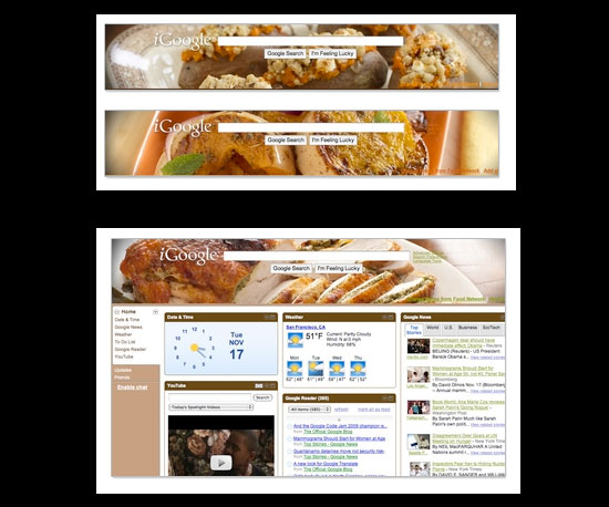 Customize Your iGoogle Screen With Food