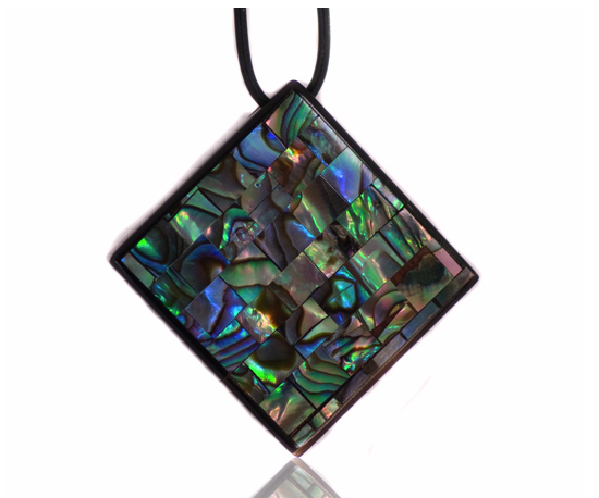 Abalone Diamond Shaped Pendant