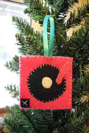 Felt Turntable Ornament ($6)
