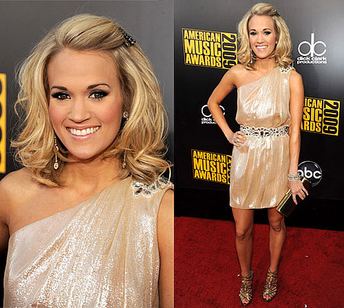 Photos of Carrie Underwood in Theia Dress at 2009 American Music Awards